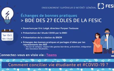 Réunion Comment concilier vie étudiante et COVID ?