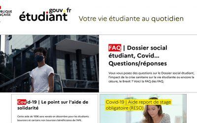 Nouveau portail etudiant.gouv.fr
