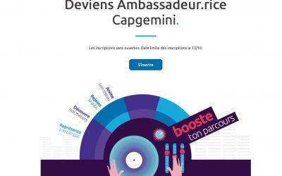 Capgemini lance la 6ème édition de son programme étudiants Ambassadeurs !