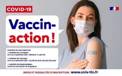 Centre de vaccination Campus de Toulon